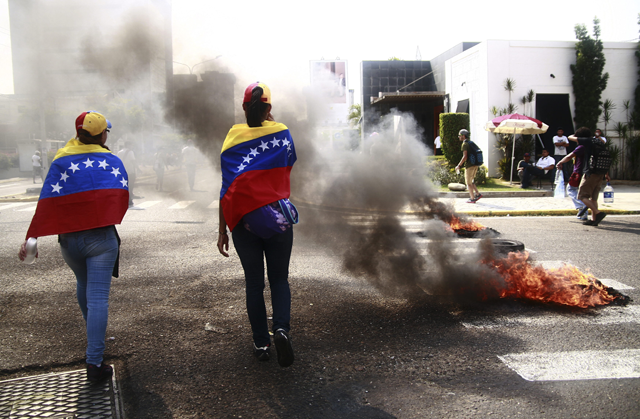 heridos manifestantes venezuela